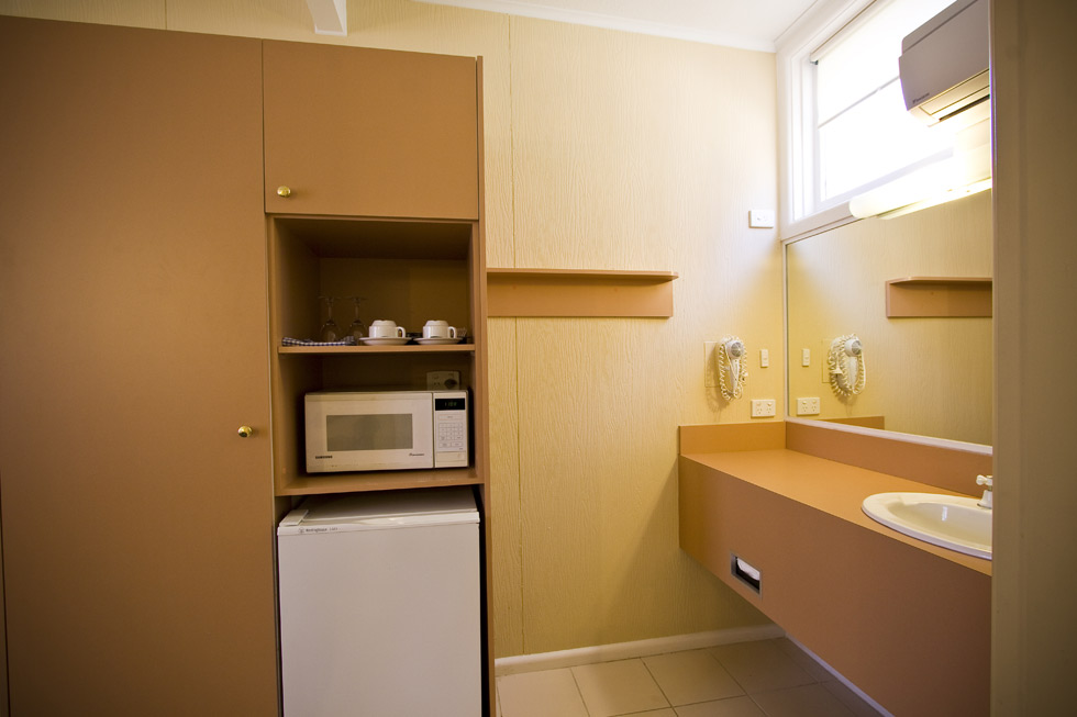 All rooms are well appointed, toaster, fridge, flat screen TV, microwave and, of course, tea and coffee making facilities.